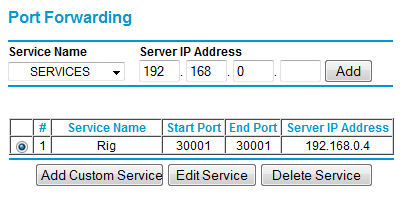 Port Forwarding > Setting up Port Forwarding